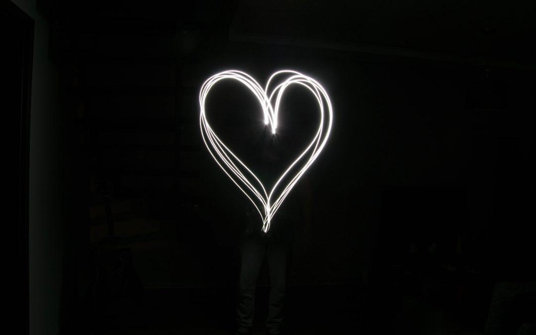 White heart on black. What happens when we seek wisdom?
