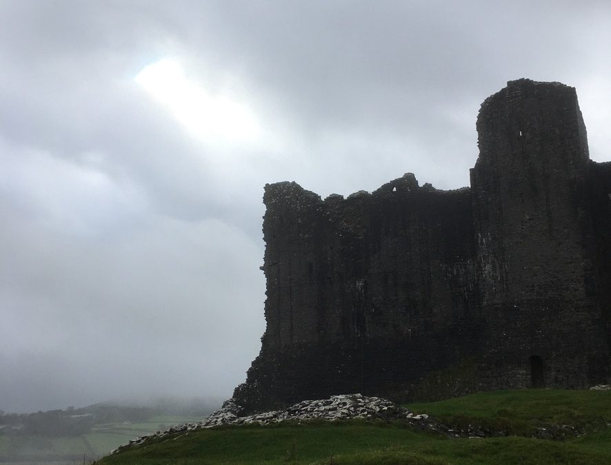 Photograph of Carreg Cennen Castle, Brecon Beacons, Wales